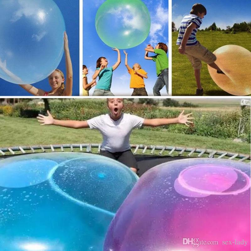Bubble Balloon Inflatable Funny Toy Ball Amazing Tear-Resistant Super Gift Inflatable Balls for 2019 Outdoor Party 12CM 3 Colors