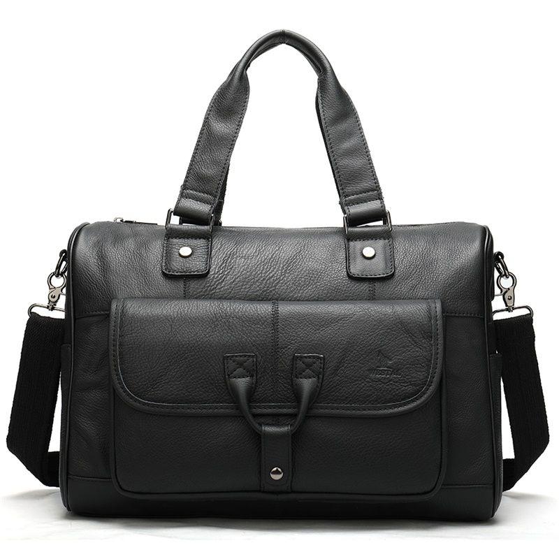100% Genuine Leather Briefcase Men Bag Office Bags For Men Laptop Bag Leather Man Briefcase Messenger Briefcases Hangbag 8666