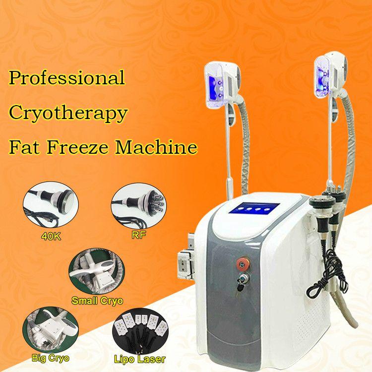 Zayıflama tedavisi hızlı yağ donma yeni zayıflama sistemi 40 K kavitasyonCryo Çift Yağ Kaldırma Vücut Şekillendirme Vakum Zayıflama Cihazı