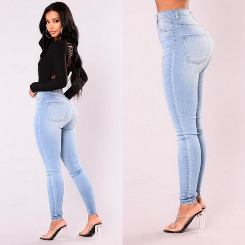 Newest Arrivals Fashion Hot Women Lady Denim Skinny Pants High Waist Stretch Jeans Slim Pencil Jeans Women Casual