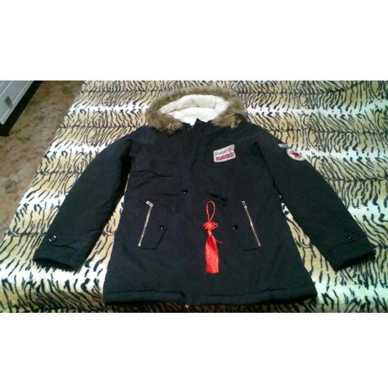 Standard Men 'S Thick Warm Winter Down Coat Fur Collar Army Green Men Parka Big Yards Long Cotton Coat Jacket Parka Men Autumn