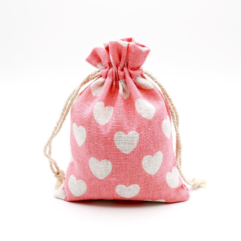 free post Thank you drawstring canvas gift bag 17cm x 13cm