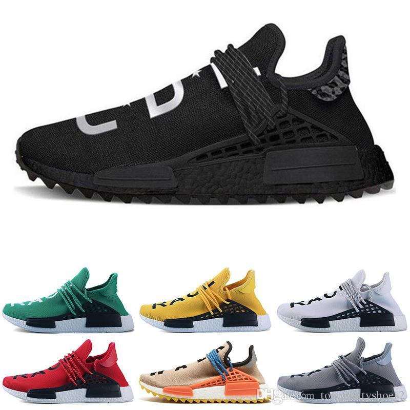 Adidas Yeezy Human Race Human Race Großhandel Pharrell Williams Freizeitschuhe Creme x NERD Solar Pack Holi Sport Männer Frauen Pharell Runner Racer Athletic Sneaker 36-47