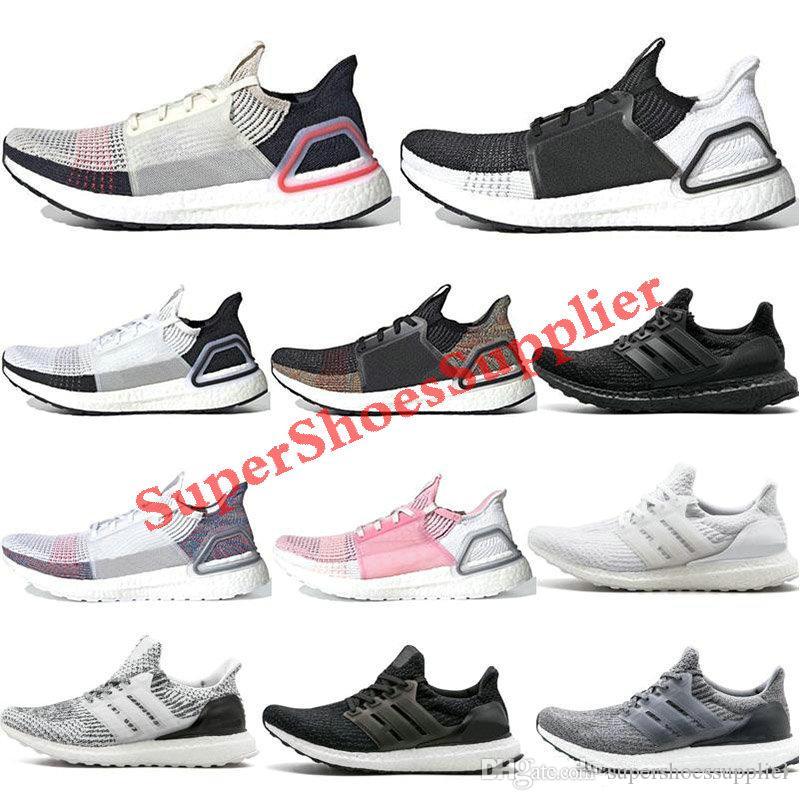 Adidas Ultra boost 4.0 5.0 Ultraboost 2019 الاحذية أبيض أسود ينكسر Primeknit الظلام بكسل الرجال رياضة المرأة مدرب حذاء رياضة 36-45