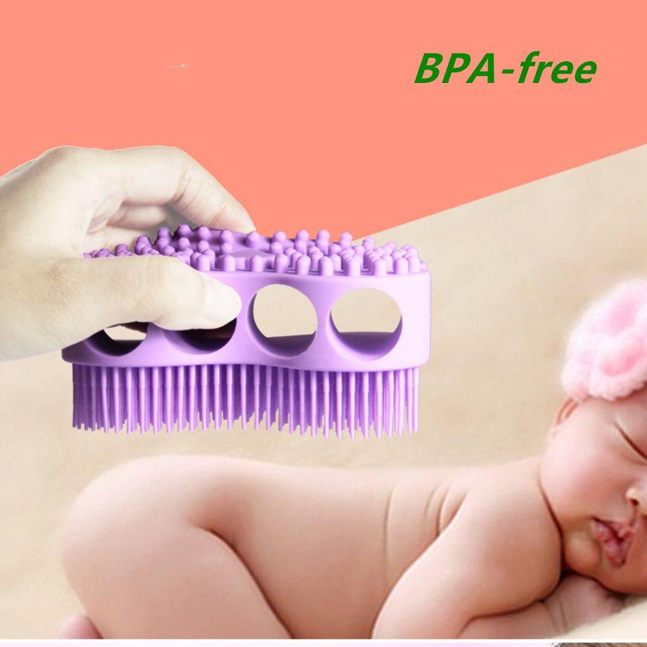 Silicone Bath Brush Baby Massager Hair Washing Comb Body Spa Ultra Soft Massage Gloves Mitten BPA-free free shipping FEDEX