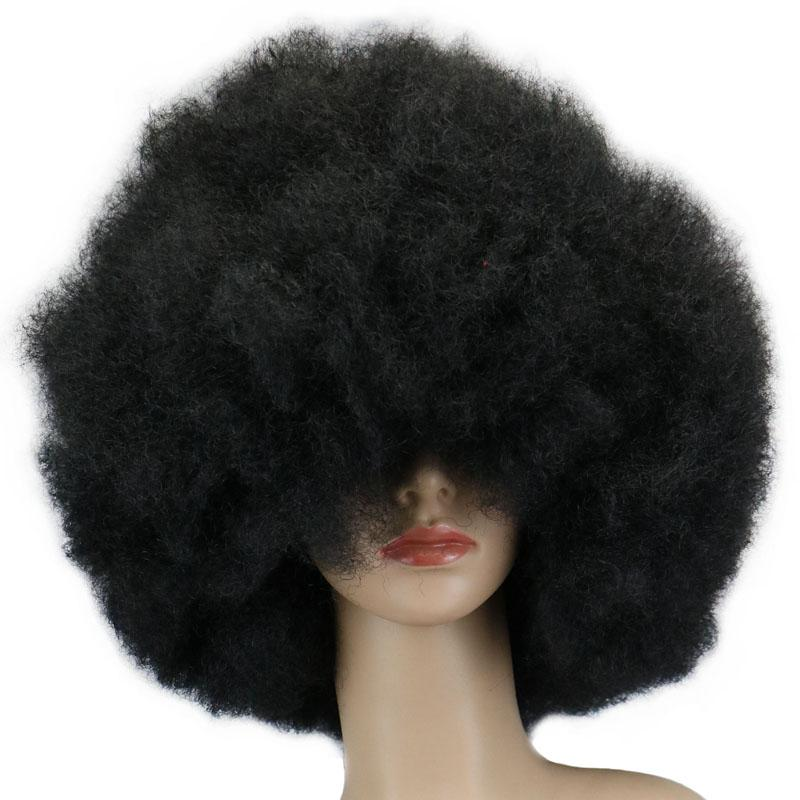 Synthetic Short Curly Hair Cosplay Party Wig Red Green Purple Pink Black Blue White Brown Yellow Blonde Dance Afro Wigs Synthetic