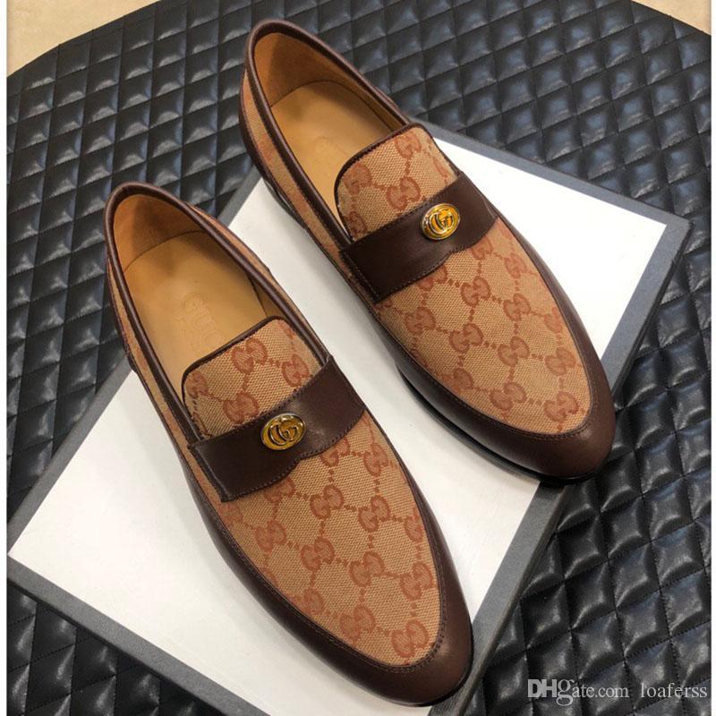 L'alta qualità pigro scarpe di moda di lusso scarpe da uomo vestito di festa di nozze classico casuali shoess Rilievo scarpe di moda in pelle taglia 38-45
