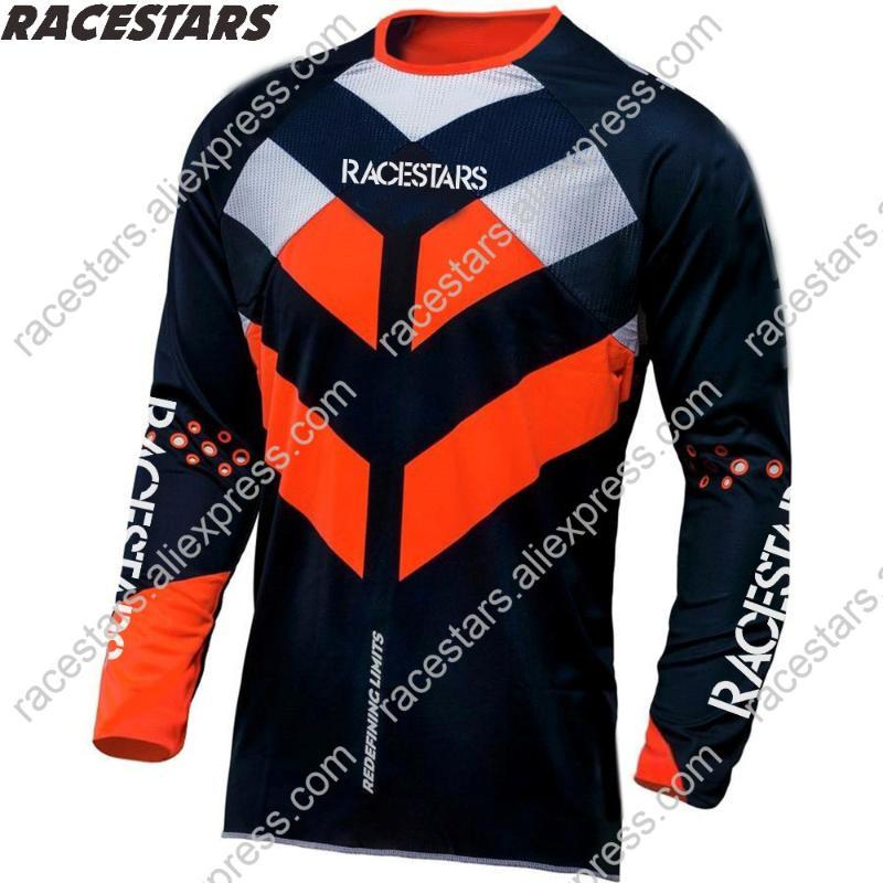 RACESTARS 2020 Men's Downhill Jerseys Mountain Bike MTB Shirts Offroad DH Motorcycle Jersey Motocross Sportwear BMX Clothing MX
