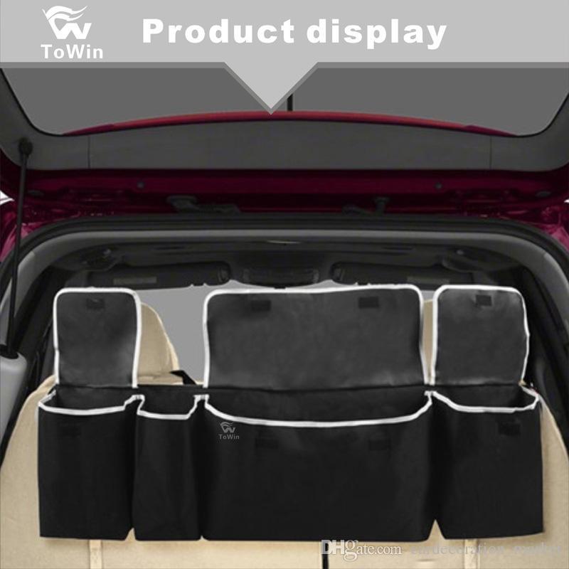 Die große Kapazität Auto-Kofferraum-Organisator-Speicher Folding Box, Drei-in-one der Hintergrund hängender Aufbewahrungsbox / Autoinnenraum.