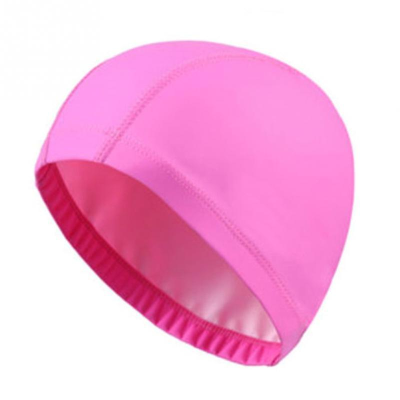 Waterproof Swimming Cap Pu Coating Cover Protect Ears Long Hair Sports Swim Caps Beach Bathing Swimming Hat Free Size For Adults