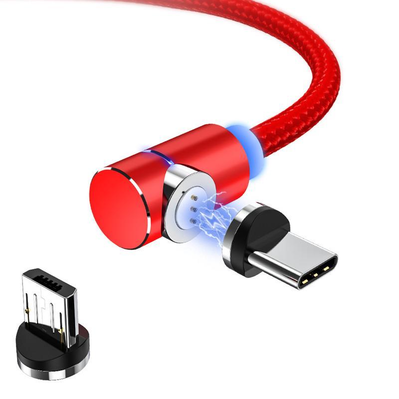 Колено быстро зарядить магнитный кабель для передачи данных для Android Type-C магнитных локтевой магнитный кабеля для зарядки DHL свободных