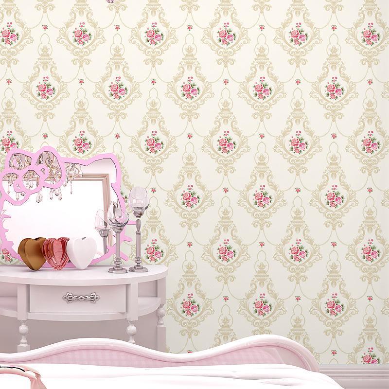 큰 벽화 유럽 3d 정원 벽지 침실 따뜻한 웨딩 거실 소파 TV 배경 벽 꽃 우아한 벽지