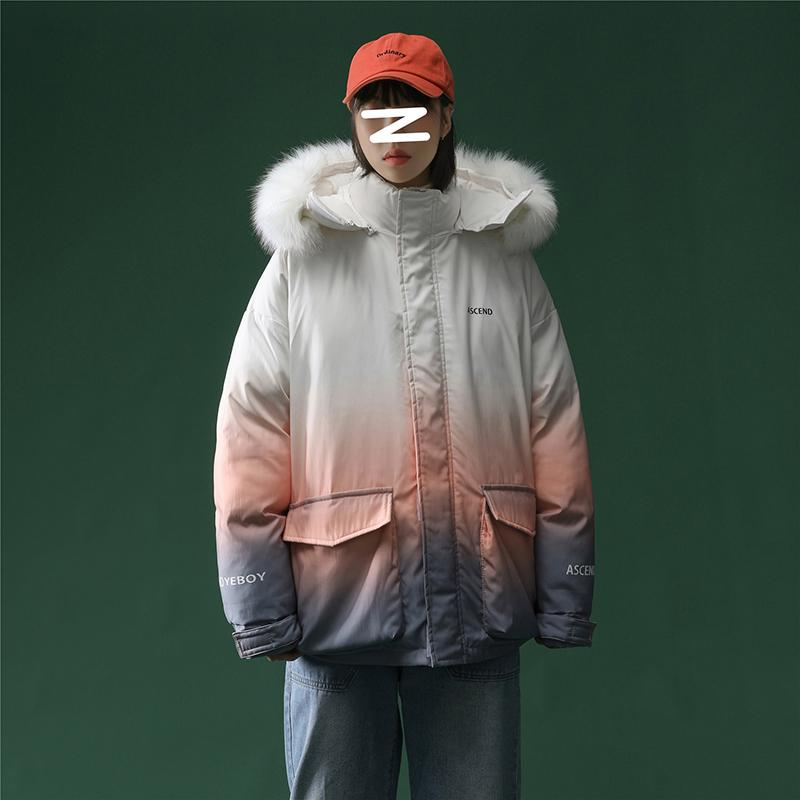 YEBO Mens Winter Hooded Thicken Jacket Casual Coat