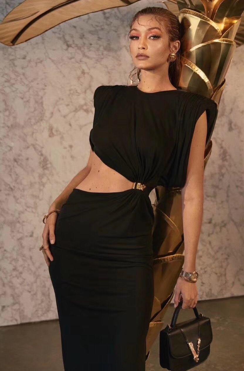 2020 Женщины Девушки Slim Fit Рубашка Платье с металлической кнопкой Женская Мода Краткий Взлетно-посадочная полоса Берусная Краткая Рубашка Топы Длинные Обочки Платья