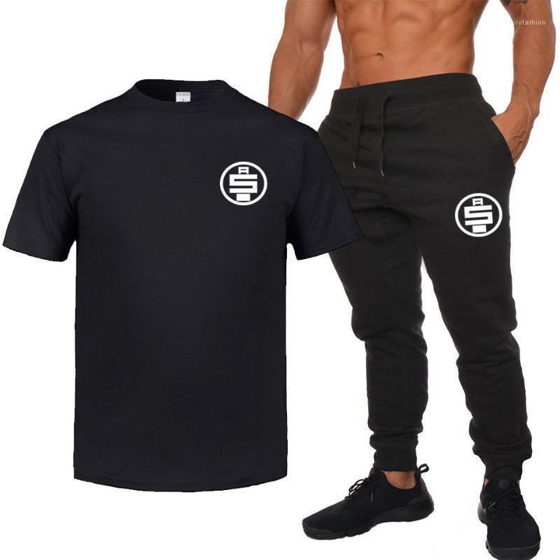 Летние спортивные костюмы дизайнер Мужские футболки брюки 2 шт. комплекты одежды шорты брюки костюмы nipsey hussle Mens