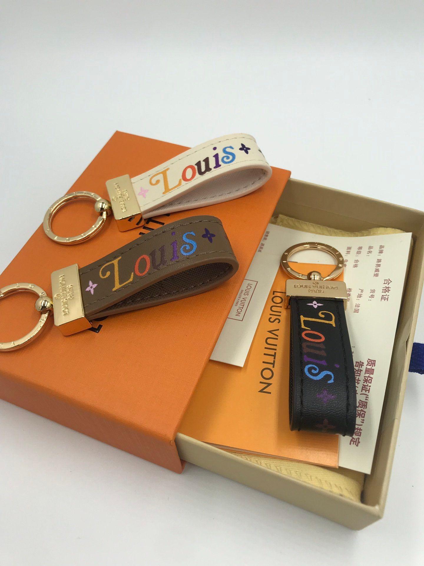 Kutu Şık yeni torba deri anahtarlık Lüks tasarımcı çanta takılar ile anahtarlık aşk mektubu deri cep telefonu zincir Pandantifle K29