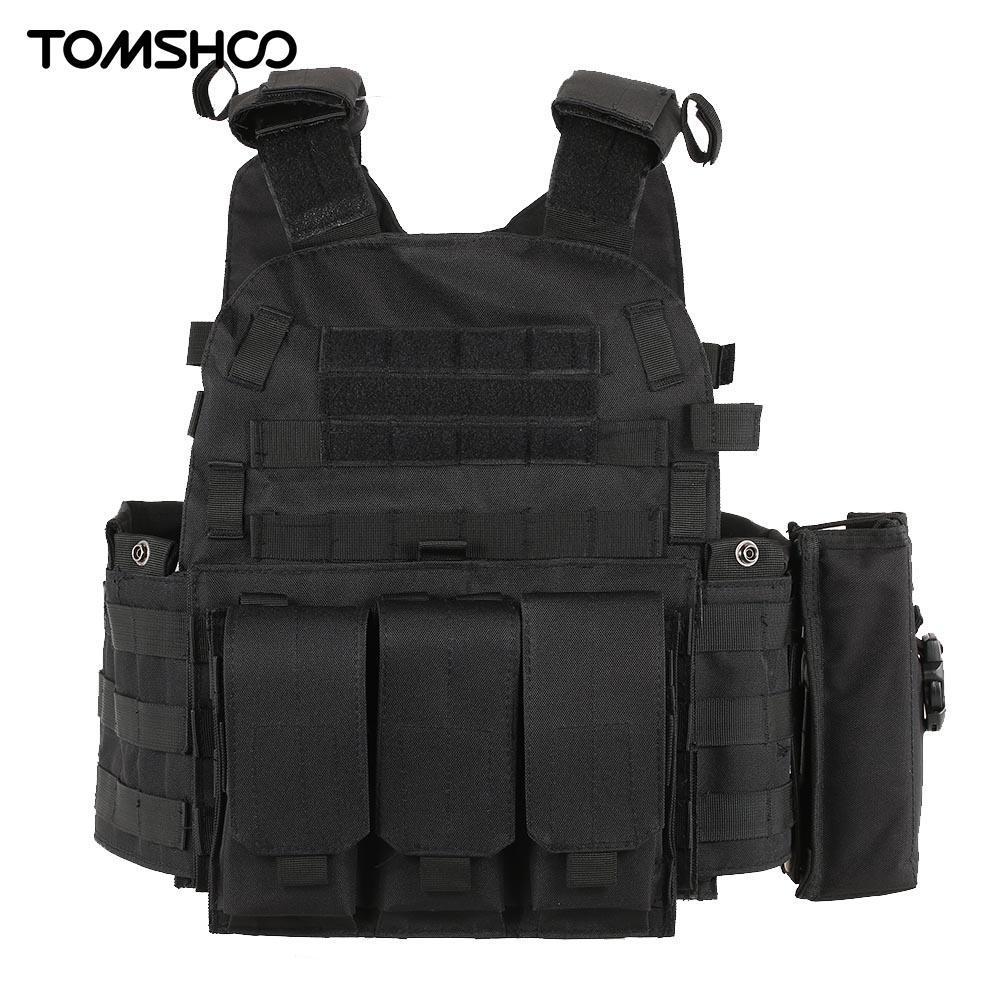 Tactical Weste-Körper Molle Jagdweste CS Outdoor Herren mit Trinktaschen-Halter Tactical Camouflage Weste