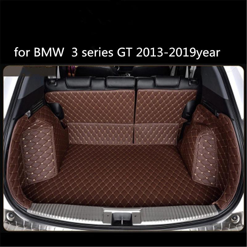 for BMW 3 series GT 2013-2019year Leather Car Trunk Full Surround Floor Mat Pallet Carpet