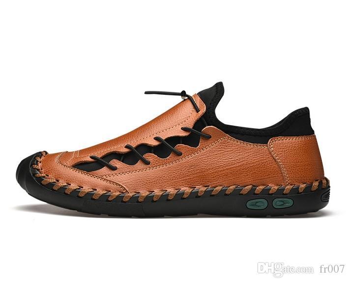 Uomini classici comode scarpe casual in pelle Mocassini qualità Split Vendita Appartamenti calda Mocassini Scarpe Plus Size