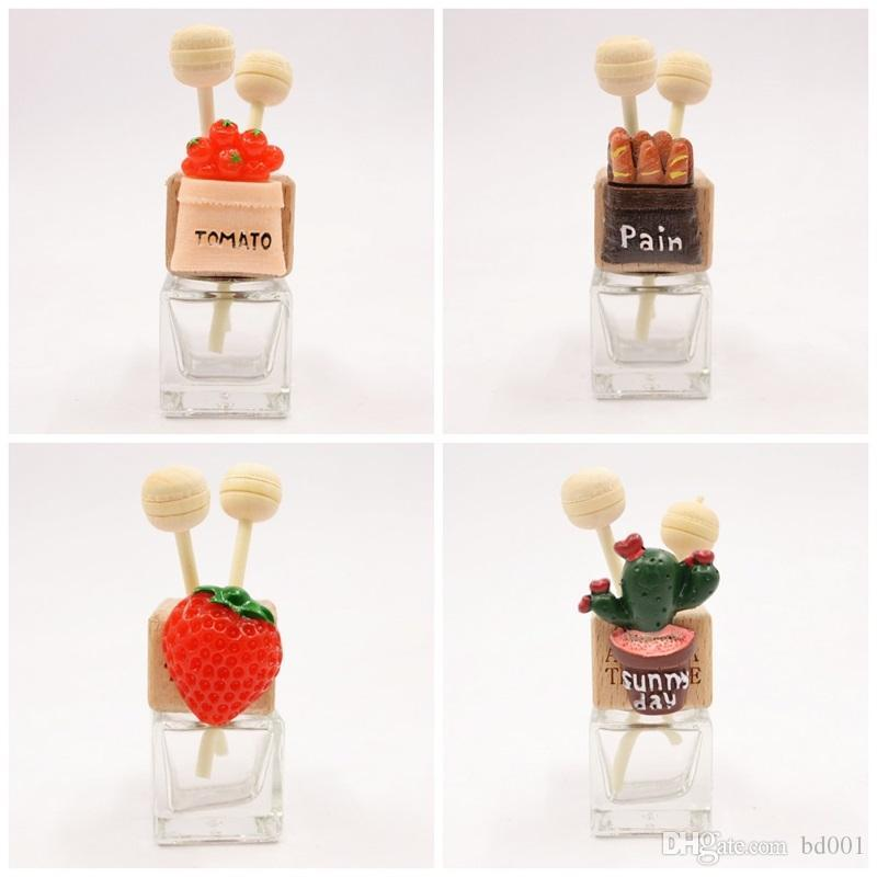 360 Degrees Rotatable Car Outlet Clip Cactus Glass Transparent Perfume Bottle Air Freshener Bottles Party Favor 7 8mk E1