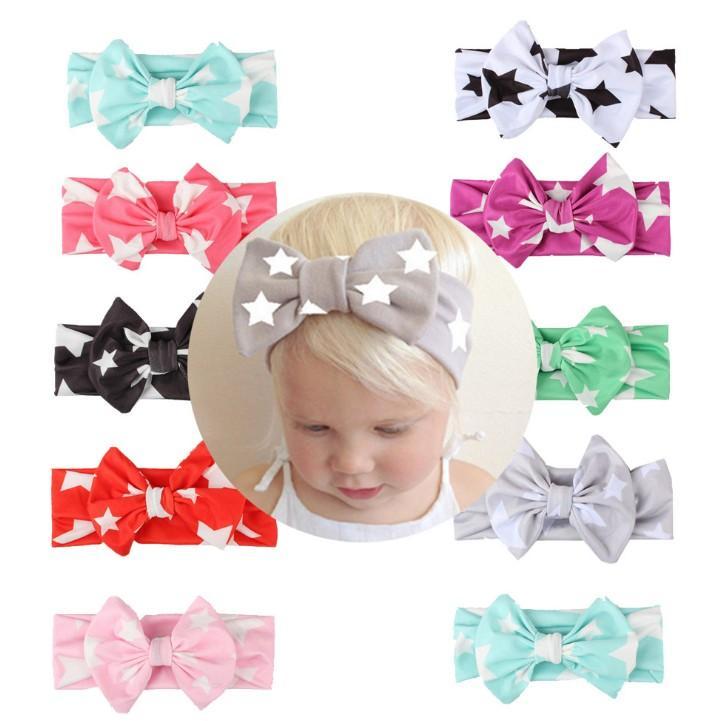 Hot Infant Baby Girl Star Headbands Bow Headdress Hair Accessories Photo Props