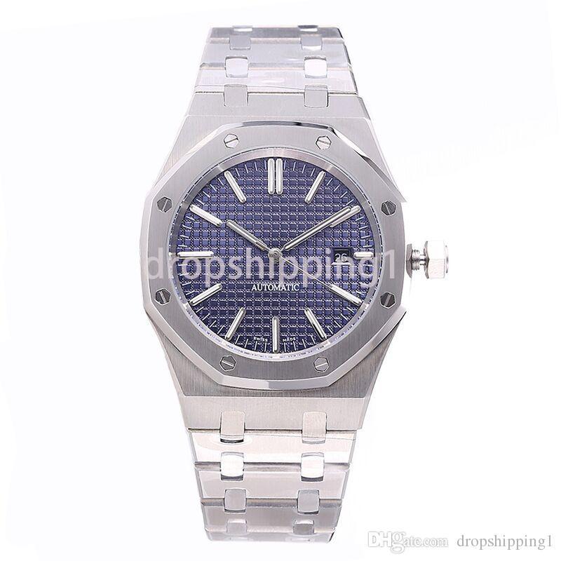 Montre de luxe pleine 42mm bracelet en acier inoxydable or Montre automatique saphir montre-bracelet de qualité supérieure lumineuse orologio di lusso 5ATM imperméable à l'eau
