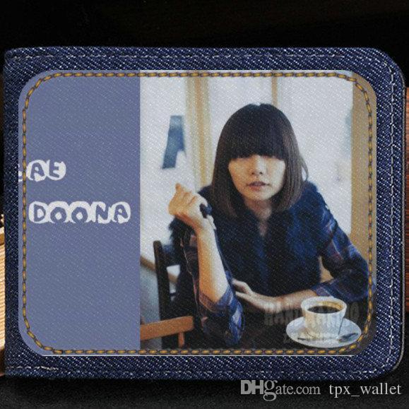 Bae Doo Na кошелек бесплатная доставка кошелек поп-звезда короткие денежные ноты дело деньги notecase кожа Жан Бурс сумка держатели карт
