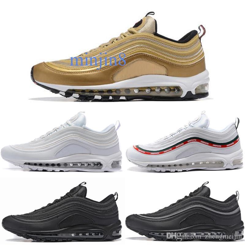 Nike air max 97 2020 Yenilmez OG Ultra Erkekler Kadınlar Koşu Ayakkabı Silver Bullet Altın Beyaz Mens Eğitmenler Tasarımcı Spor Sneakers Chaussures zh