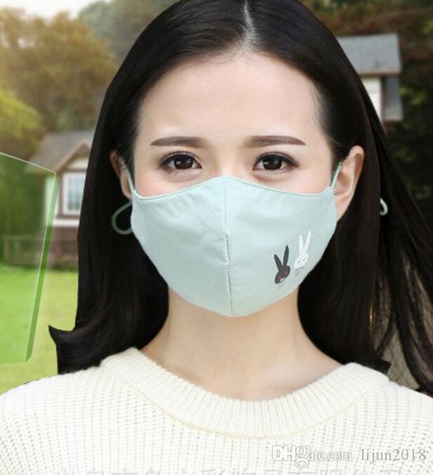 Face Blue Students Reusable Women Outdoor Warm Cycling From Anti Respirator Winter Cotton For Filter 2020 Mouth Girls Mask With Dust