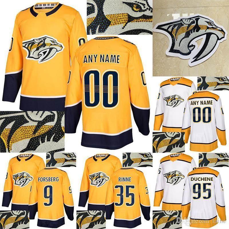 Nashville Predators Jersey Sıcak 95 Mat Duchene 59 Roman Josi 92 Ryan Johansen Özelleştirmek herhangi bir sayı herhangi bir ad hokey sondaj
