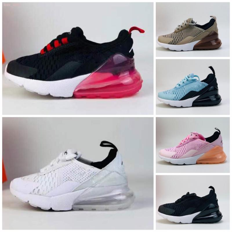 Nike air max 270 Zapatos 2020T niños corriendo niños Calzado lobo gris niñas y los niños del niño del deporte de las zapatillas de deporte zapatos deportivos Niño Niña size22-35