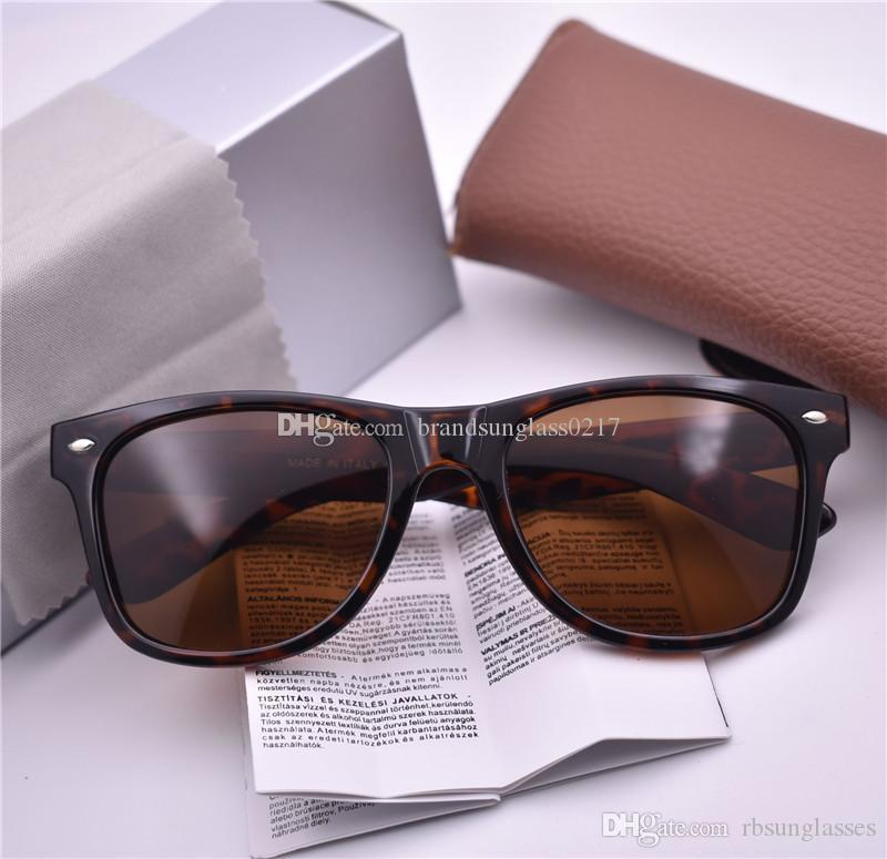 Марка Дизайнер поляризованных мод ВС стекло Мужчины Женщина солнцезащитные очки УФ-защита Спорт Vintage солнцезащитных очков ретро очки с корпусами коробки