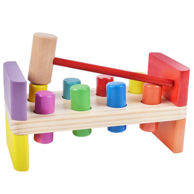 Bata pilha Madeira Martelo Toy Bata Hamster jogo de mesa do cilindro colorido Jogo do separador Primeiros Brinquedos Educativos Aprendizagem para Crianças