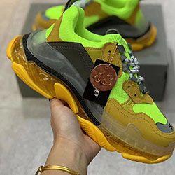 Top Designer Shoes Neon Green Sneakers