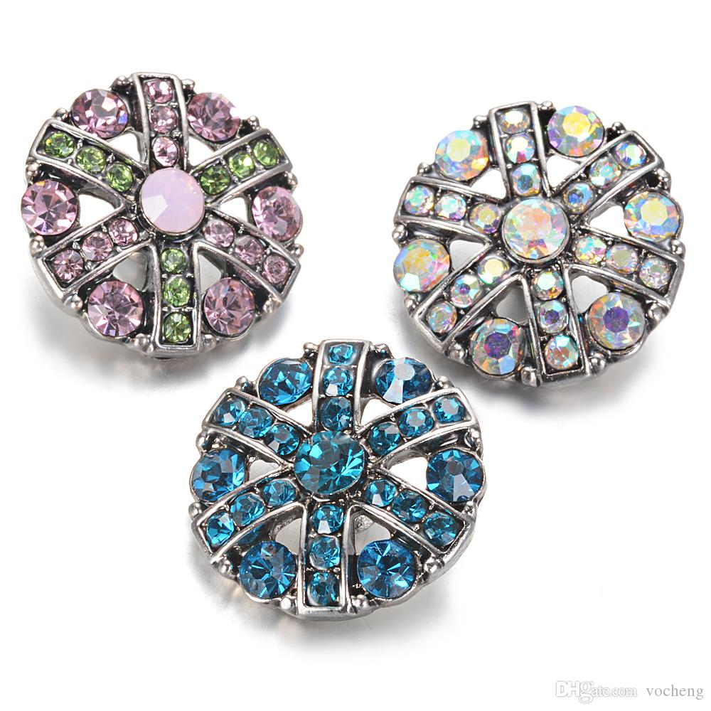 VOCHENG NOOSA Chunks 3 Colors 18mm Vocheng Snap Charms Interchangeable Jewelry Snap Button Vn-2007