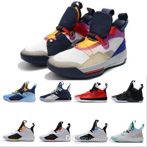 El envío libre 33 Zapatos Tech Pack de baloncesto para hombre 33s mejor calidad Futuro de moda de los zapatos de Vuelo Guo Ailun Deportes XXXIII las zapatillas de deporte de los hombres del zapato