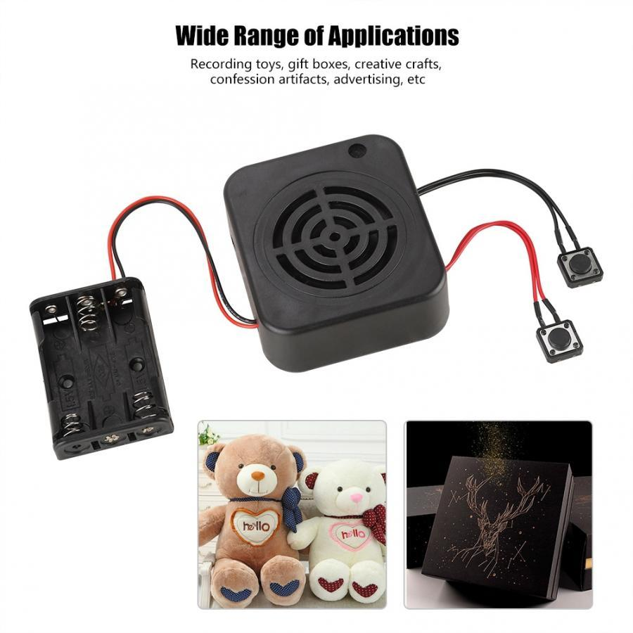 Portable Audio & Video Radio 3W DIY Voice Recording Box Message Box Module Clear Sound for Stuffed Animals/Gift/Toy /Advertising