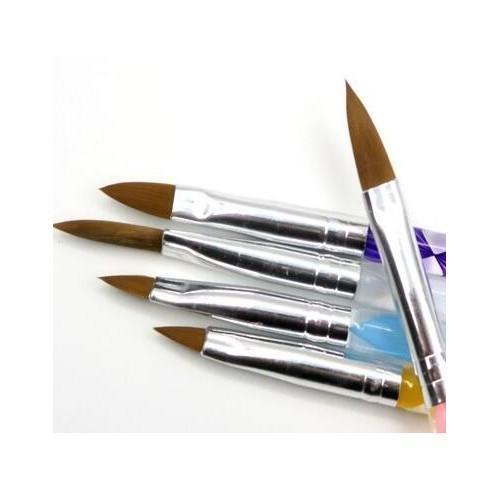 الأزياء 5 قطع خمسة حجم جودة عالية المهنية الاكريليك السائل للفن القلم فرشاة uv gel nail الاكريليك مسحوق