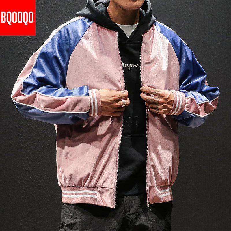 BQODQO O-Neck Pilot Casual Streetwear Jacket For Men Military Style Hip Hop Jackets Coat Autumn Baseball College Men's Clothing T200502