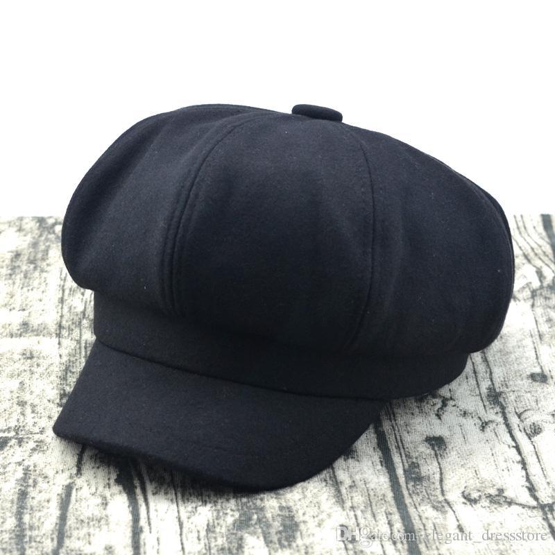 GFM Sombreros 8 Paneles Mezcla de Lana Baker Boy Cap Gatsby Estilo Sombrero
