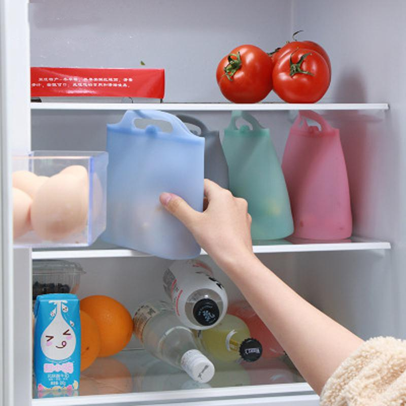 Réutilisable en silicone alimentaire Conservation Sac Hermétique Seal aliments frais de stockage Sac Conteneur Polyvalent La cuisson des aliments silicone Sac frais DBC BH3105