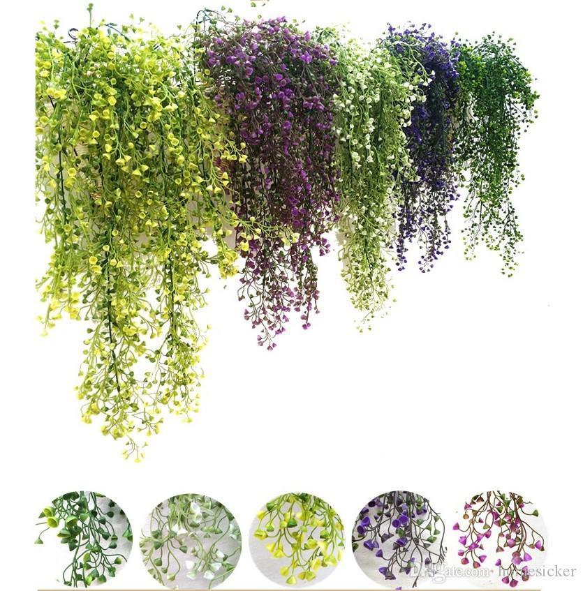 Fleurs artificielles vigne lierre feuille soie suspendus vigne faux plantes artificielles plantes vert guirlande décoration de fête de mariage à domicile