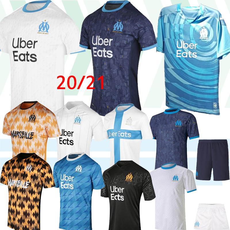 20 21 Olympique De Marseille maillot de football maillots OM 2019 2020 Maillot de pied PAYET BENEDETTO 120 ans de football chemise 120e anniversaire