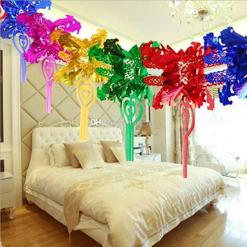 Wedding Party Paper Garland 3m Creative Fun Colorful Hanging Flower Cake Card For Kids Birthday Party Decoration QW9711