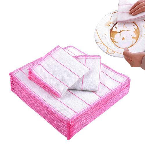 صحن القماش الخيزران الألياف عالية الكفاءة المضادة-- الشحوم تنظيف منشفة غسل منشفة ماجيك تنظيف المطبخ مسح خرقة