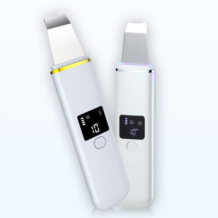 Limpiador ultrasónico de la piel facial del depurador del dispositivo del retiro de los poros de limpieza por ultrasonidos de la espinilla descamación de la piel de la pala de la máquina para la aprobación de la FDA