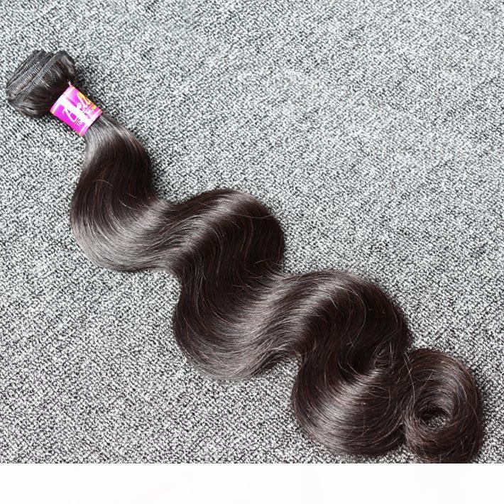 Natural Black Color Malaysian Hair Extension 3 Bundles Human Hair Extensions 8~30inch Wavy Body Wave Free Shipping