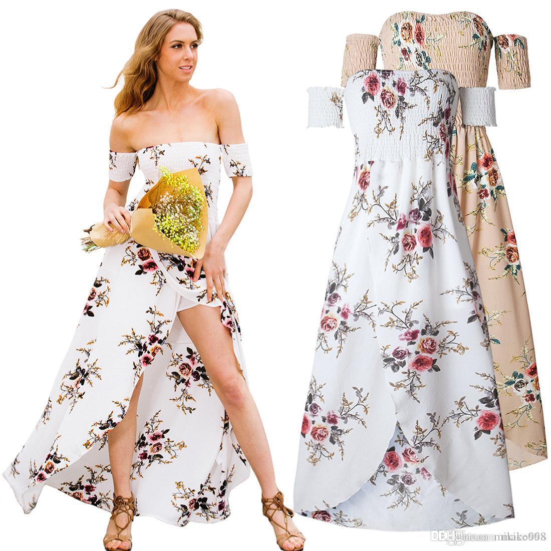 Avrupa ve Amerikan dış ticaret elbise seksi elbise sarılmış göğüs ince bel damgası bölünmüş etek Plaj Resort