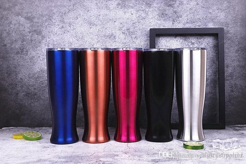 Stainless steel double beer glass wine glasses The torch cup Stainless Steel pilsners Tumblers Creative Vase Cup A06
