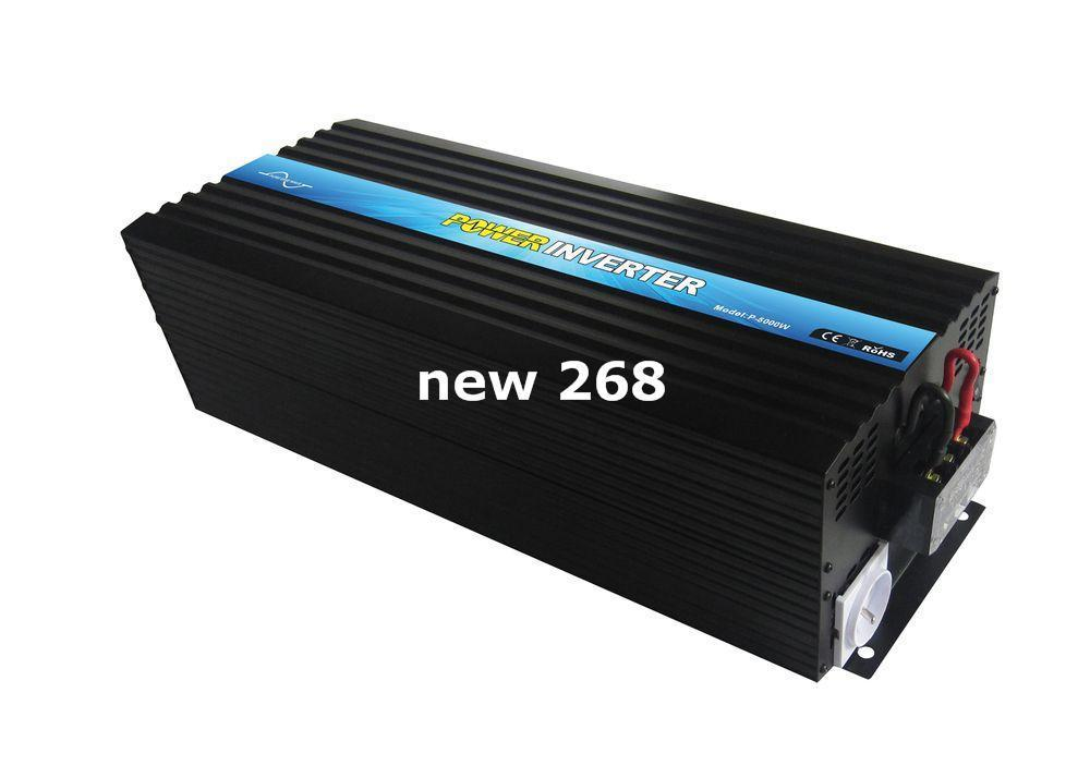 Freeshipping 5000 Inverter Tepe Güç 10000W 12 V 220 V 5000 W Güç Minester